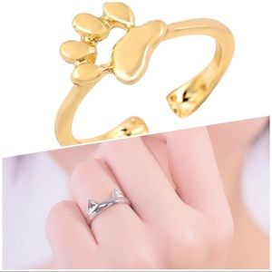 Jewelry - 🐈 🐾 animal lovers!! 2 rings for the price of ☝️